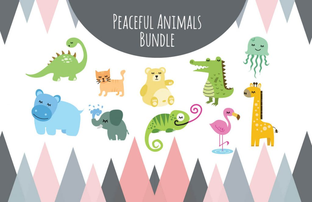Peaceful Animals Svg Bundle