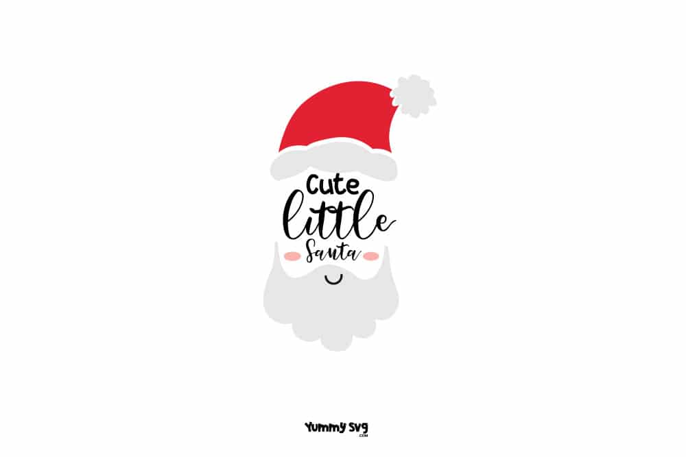 Cute Little Santa Free Christmas Svg